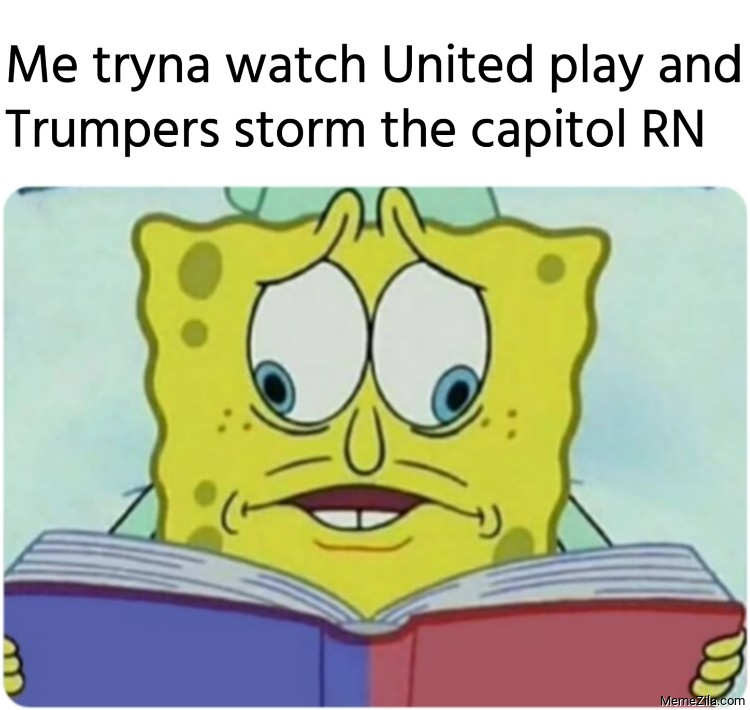 Me tryna watch United play and Trumpers storm the capitol RN meme