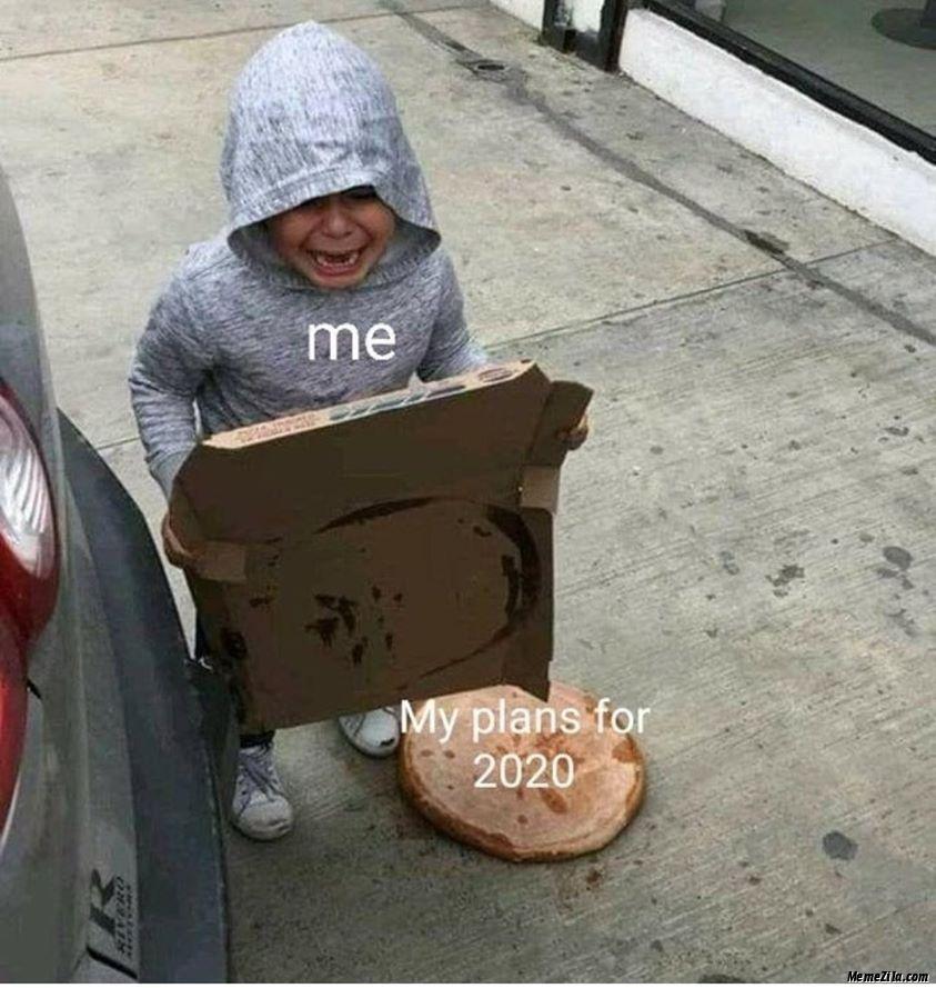 Me vs My plans for 2020 meme