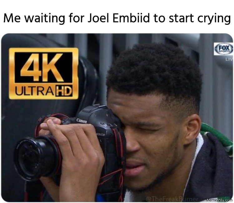 Me waiting for Joel Embiid to start crying again meme