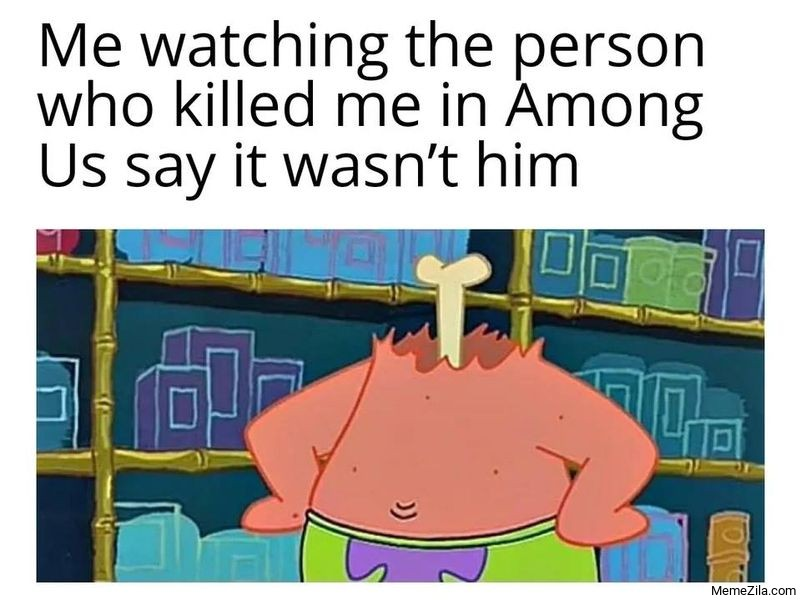 Among Us Me-watching-the-person-who-killed-me-in-Among-Us-say-it-wasnt-him-meme-6773