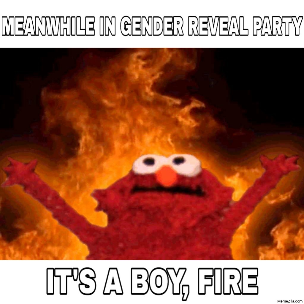 Meanwhile in gender reveal party Its a boy fire meme
