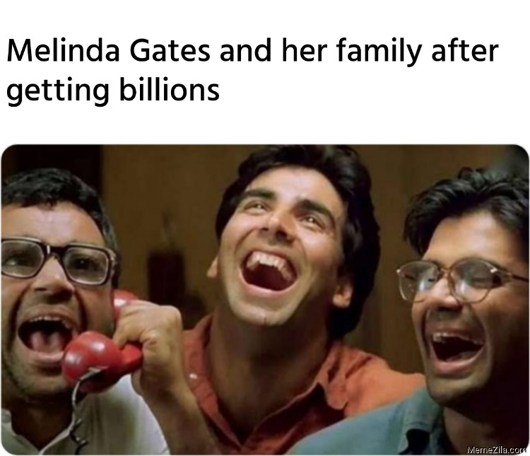 Melinda Gates and her family after getting billions meme
