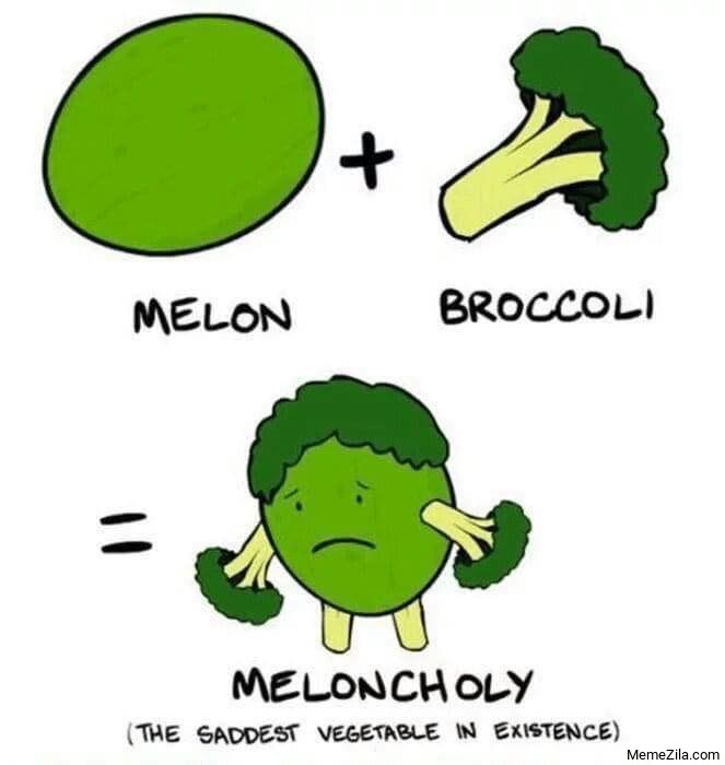 Melon broccoli Meloncholi The saddest vegetable in existence meme