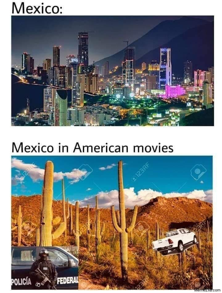 Mexico in American movies meme
