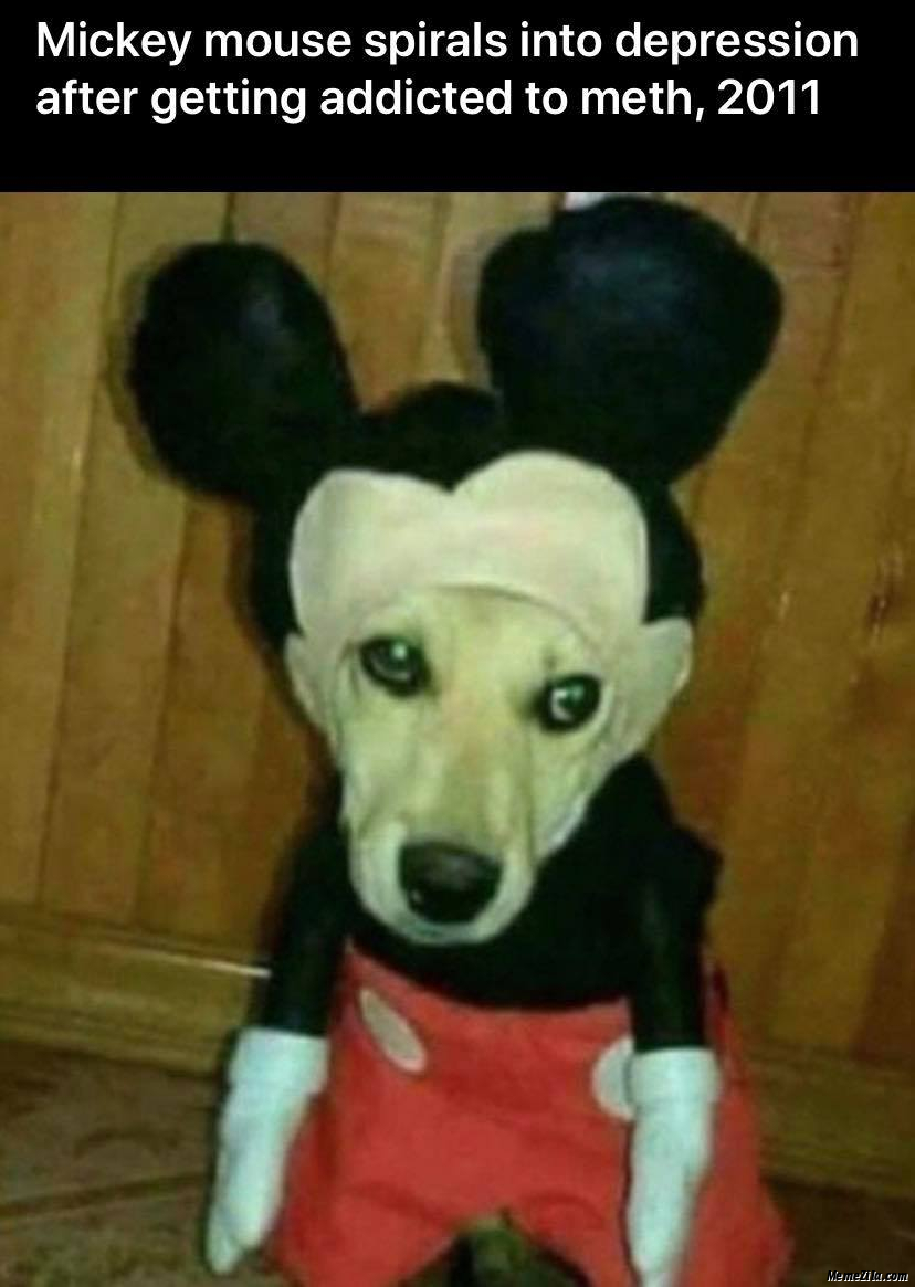 Mickey mouse spirals into depression after getting addicted to meth 2011 meme