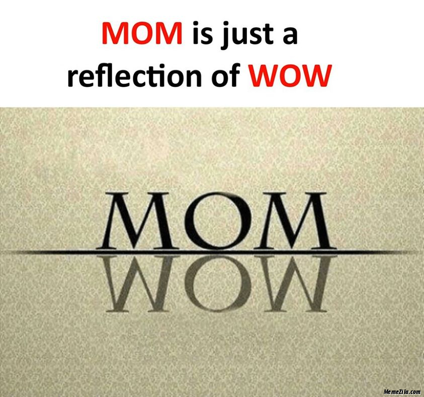 Mom is just a reflection of wow meme