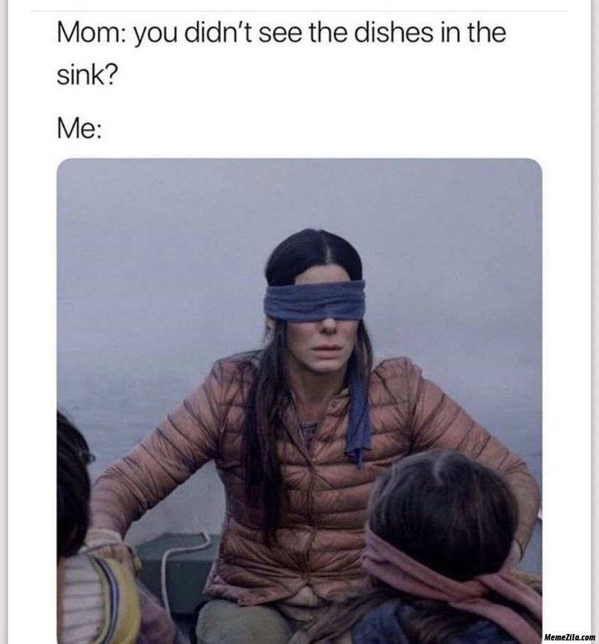 Mom you dont see the dishes in the sink meanwhile me meme