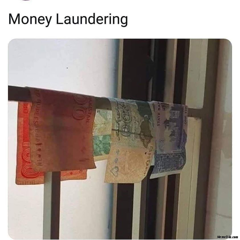 Money Laundering Meme