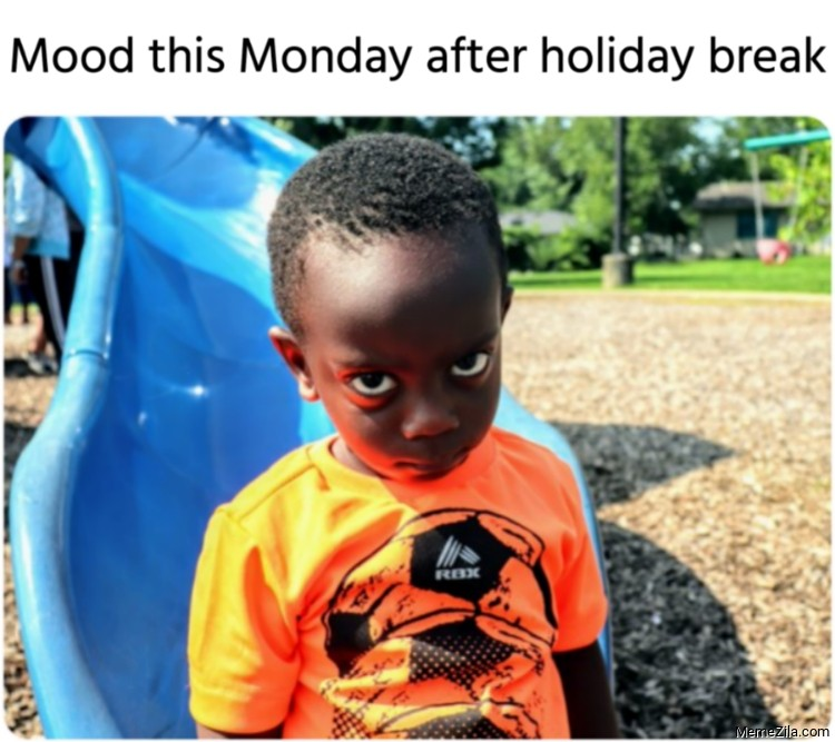 Mood this Monday after holiday break meme