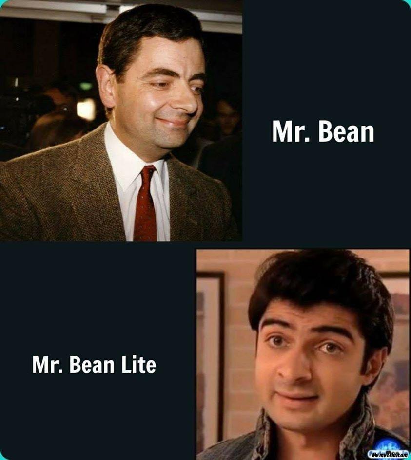 Mr Bean vs Mr Bean lite meme