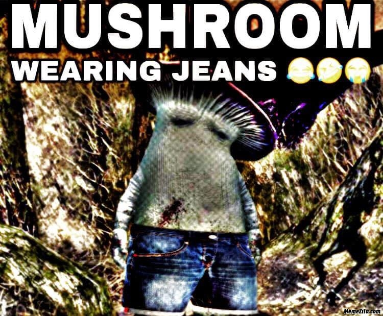 Mushroom wearing jeans meme