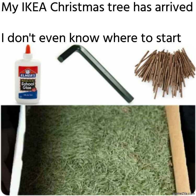 My IKEA Christmas tree has arrived I dont even know where to start meme