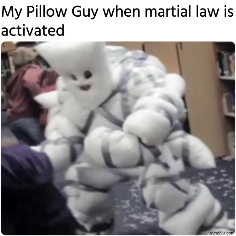 My Pillow Guy when martial law is activated meme
