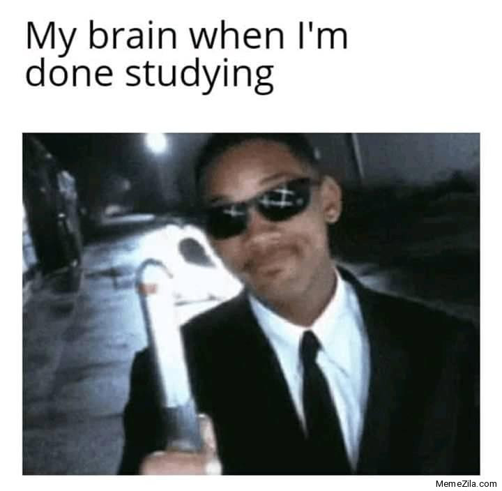 My brain when I am done studying meme