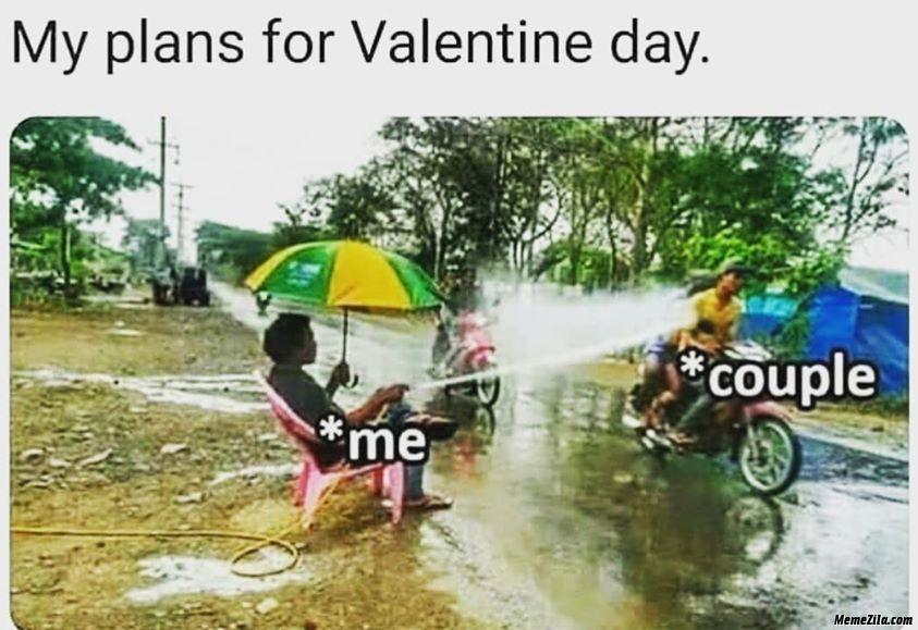 My plans for Valentine Day meme