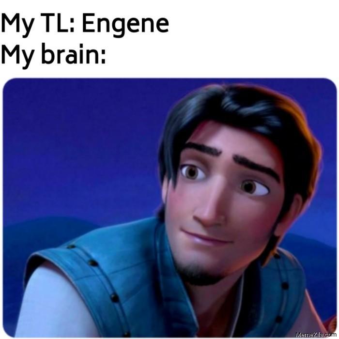 My tl Engene Meanwhile my brain meme