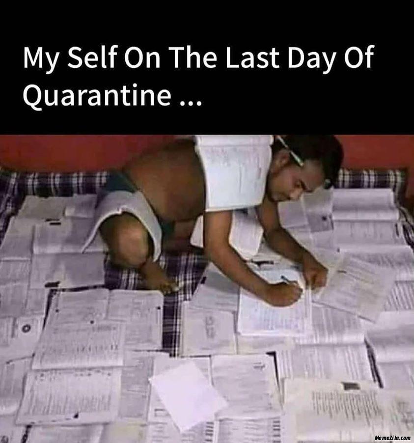 Myself on the last day of quarantine meme