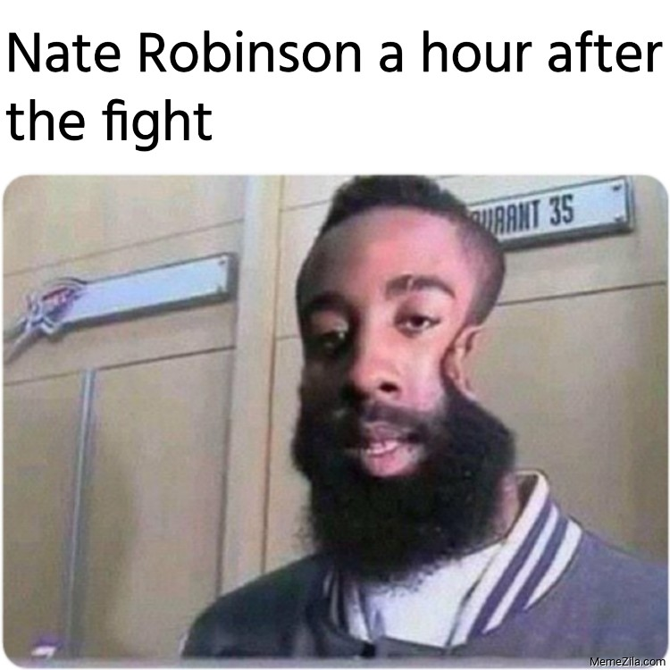 Nate Robinson a hour after the fight meme