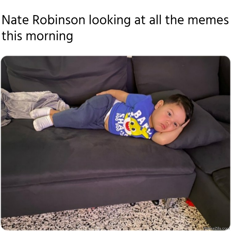 Nate Robinson looking at all the memes this morning meme
