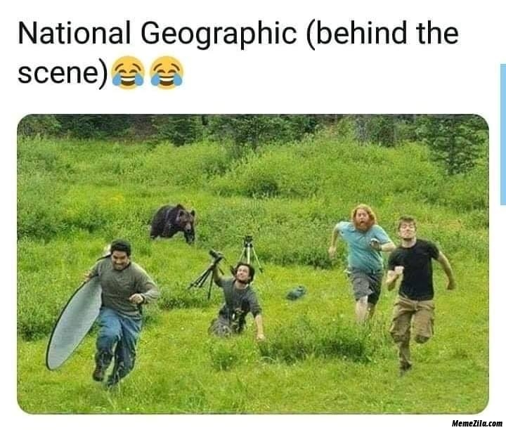 National geographic behind the scene meme