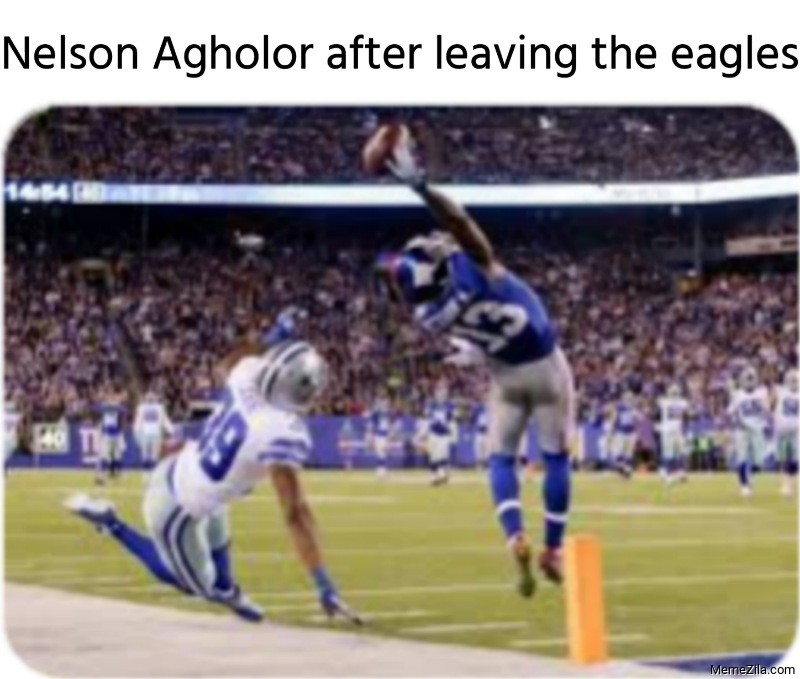 Nelson Agholor after leaving the eagles meme