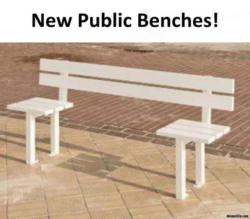 New public benches meme
