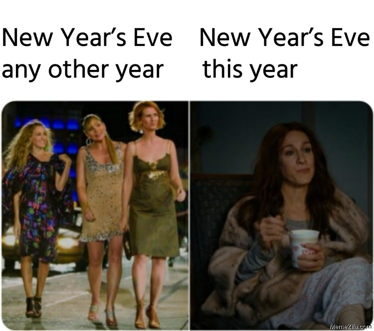 New years eve any other year vs New years eve this year meme