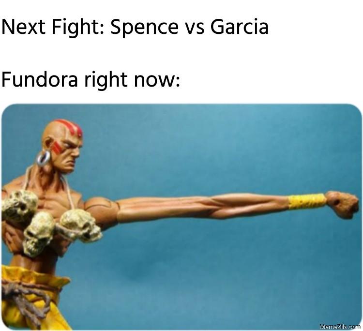 Next fight Spence vs Garcia Meanwhile Fundora right now meme