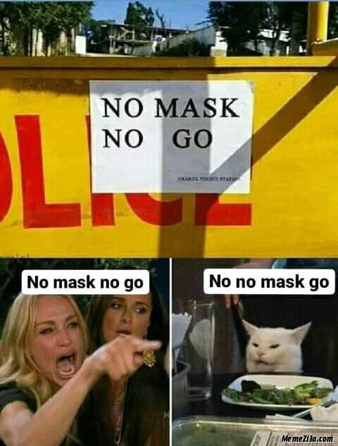 No mask no go No no mask go meme