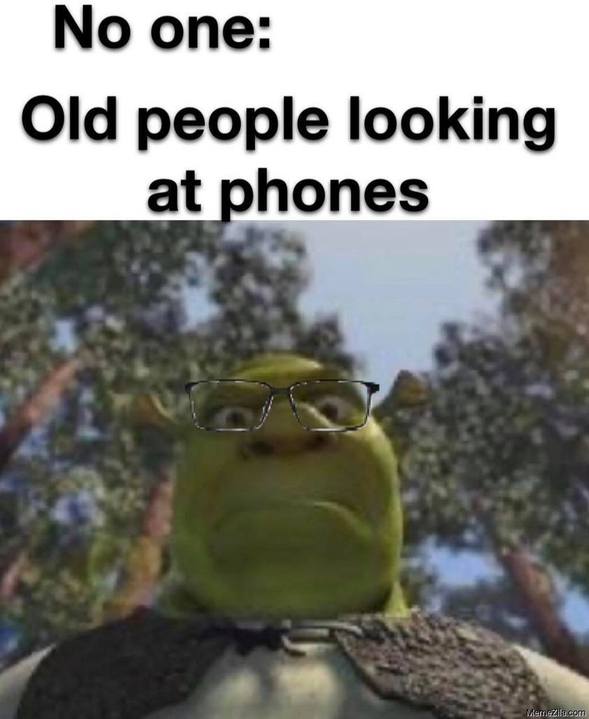 No one Old people looking at phones meme