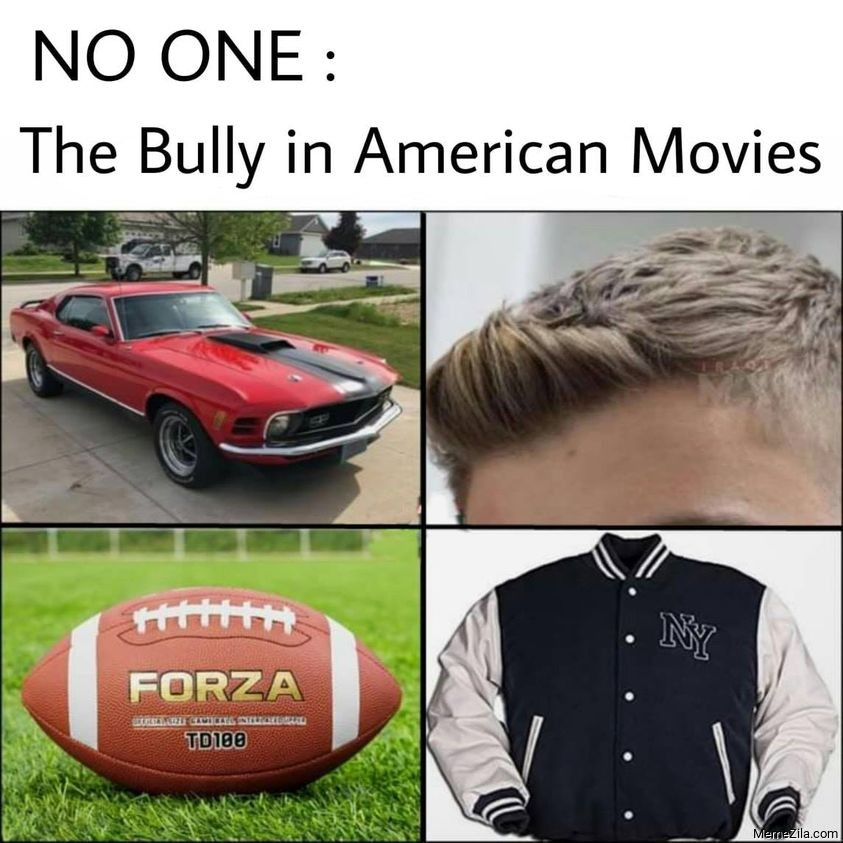No one The bully in American movies meme