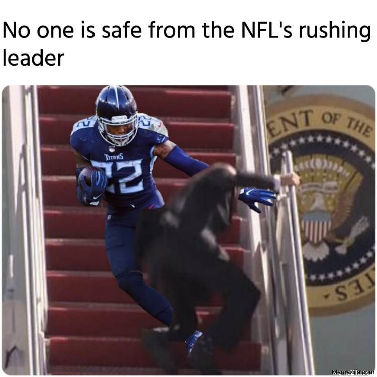 No one is safe from the NFLs rushing leader meme