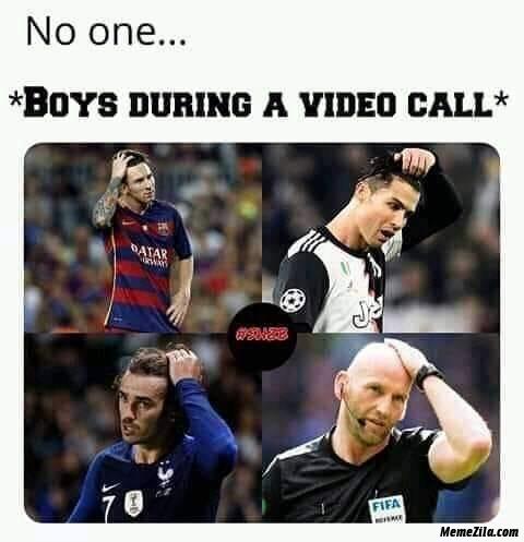 No one vs boys during a video call meme