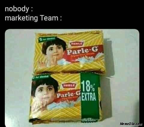 Nobody Marketing team meme