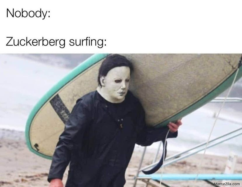 Nobody Zuckerberg surfing meme