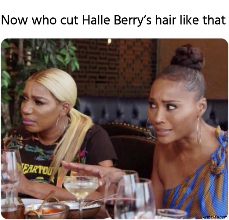 Now who cut Halle Berrys hair like that meme