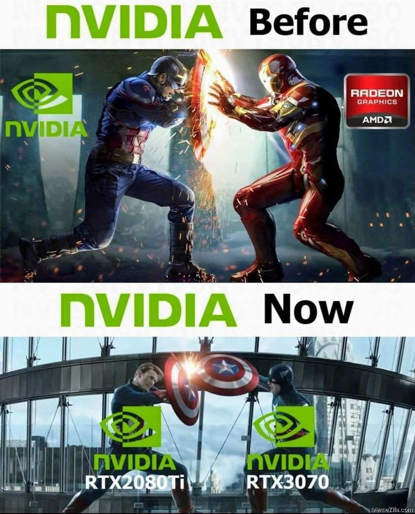 Nvidia before vs Nvidia now meme