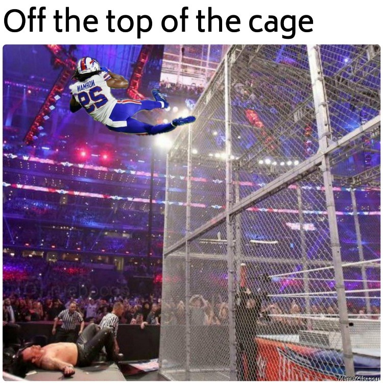 Off the top of the cage meme
