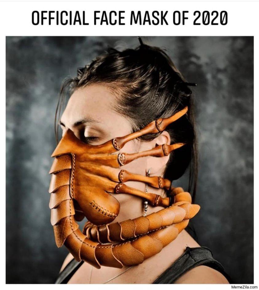 Official face mask of 2020 meme