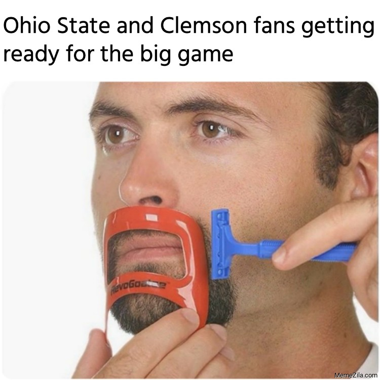 Ohio State and Clemson fans getting ready for the big game meme