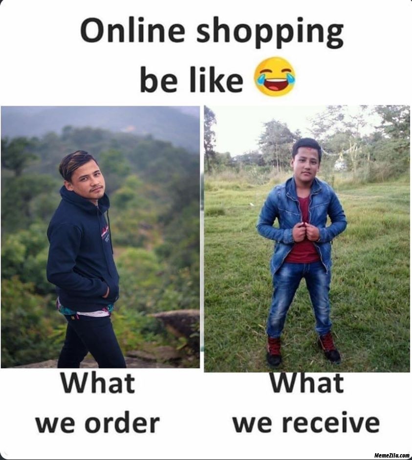 Online shopping be like What we order vs what we receive meme