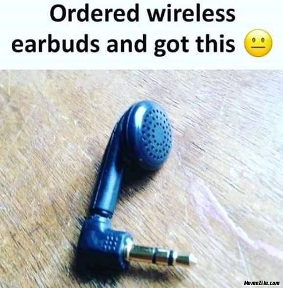 Ordered wireless earbuds and got this meme