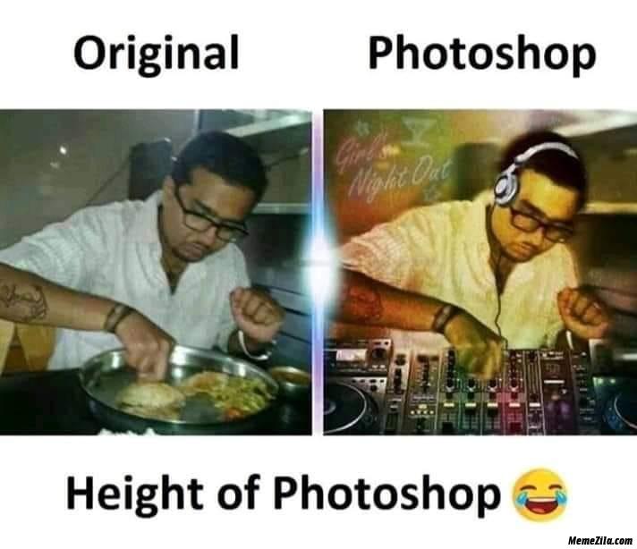 Original vs photoshop Height of photoshop meme