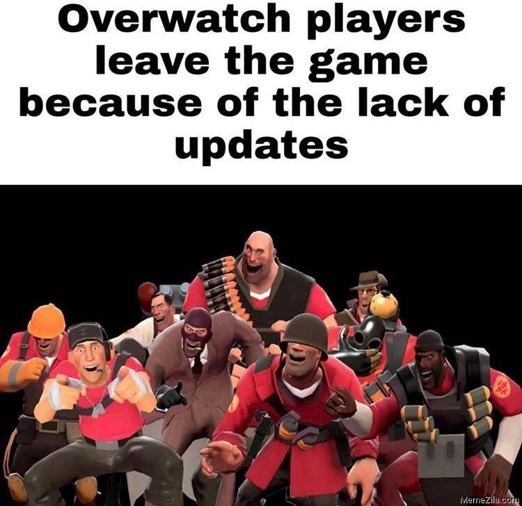 Overwatch players leave the game because of the lack of updates meme