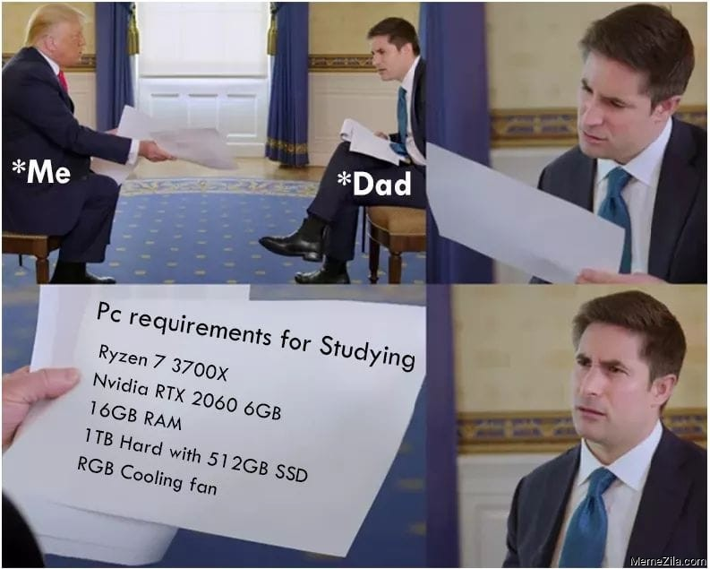 PC requirements for studying meme