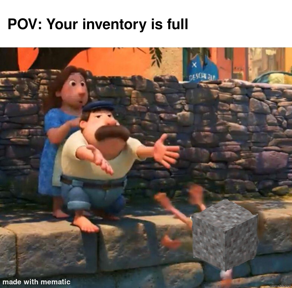 POV: Your inventory is full meme