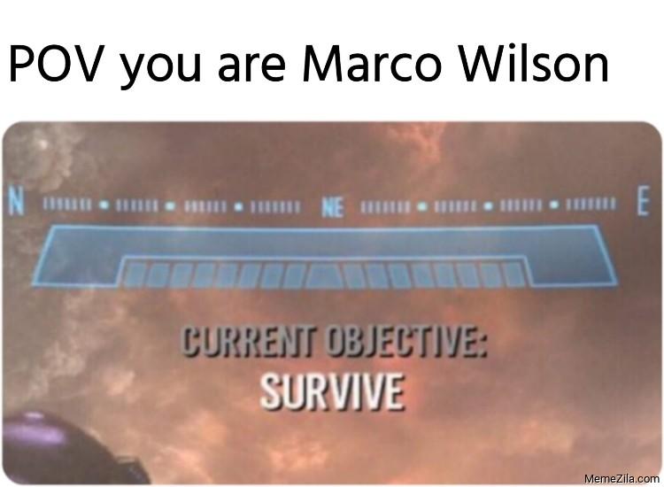 POV you are Marco Wilson meme