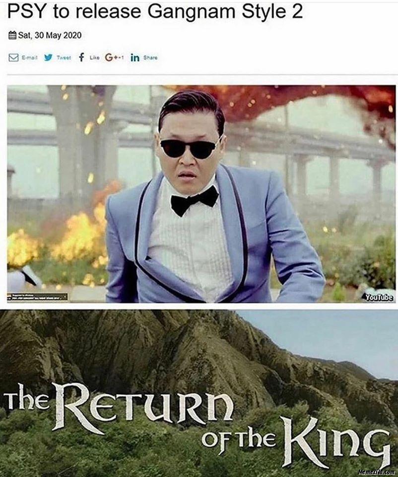PSY to release Gangnam Style 2 meme