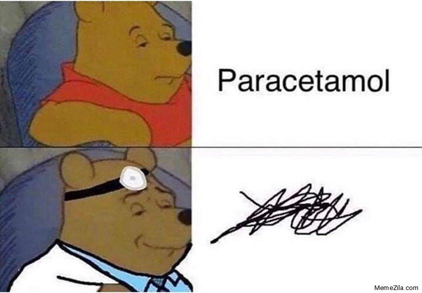 Paracetamol doctor handwriting meme