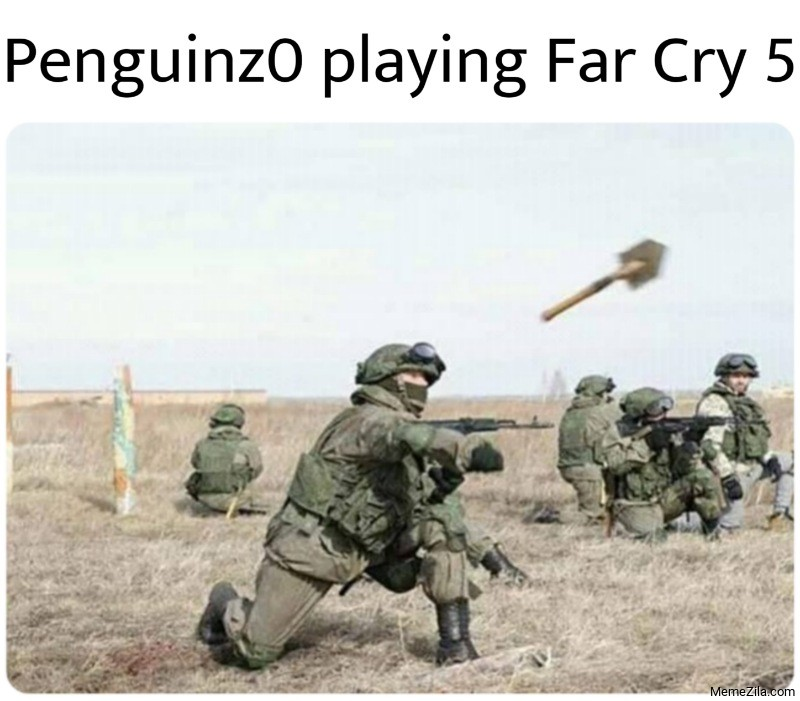 Penguinz0 playing Far Cry 5 meme